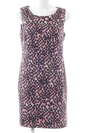 Ashley Brooke Etuikleid blau-pink abstraktes Muster Business-Look