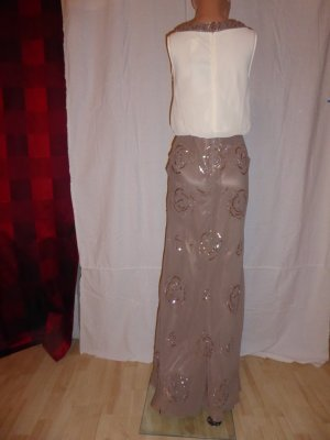 Ashley Brooke Event Abendkleid figurumspielend mit Pailletten taupe Gr. 34 NEU-UVP:74,99