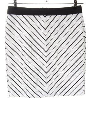 Ashley Brooke High Waist Skirt white-black striped pattern casual look