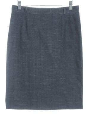Ashley Brooke Jeansrock dunkelblau-creme meliert minimalistischer Stil