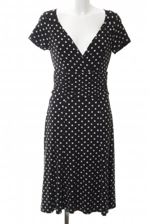 Ashley Brooke Jerseykleid schwarz-weiß Punktemuster Casual-Look