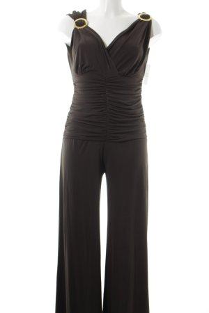 Ashley Brooke Tuta marrone-grigio stile da moda di strada
