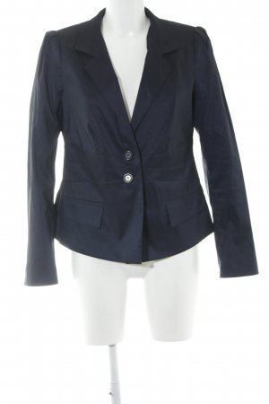 Ashley Brooke Blazer court bleu foncé style d'affaires