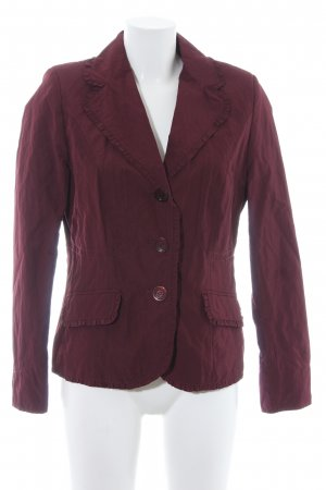 Ashley Brooke Blazer court rouge carmin style d'affaires