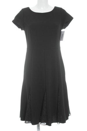 Ashley Brooke Shortsleeve Dress black Embroidered ornaments