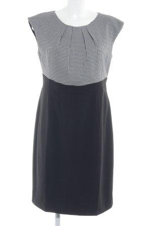 Ashley Brooke Kurzarmkleid schwarz-weiß Hahnentrittmuster Elegant