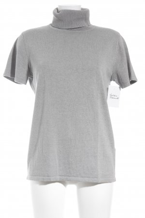 Ashley Brooke Short Sleeve Sweater light grey casual look