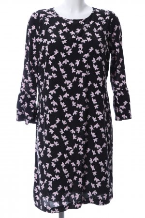 Ashley Brooke Longsleeve Dress black-pink allover print business style