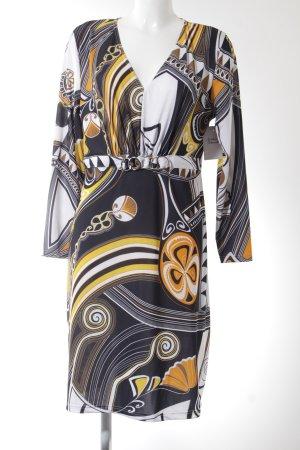 Ashley Brooke Vestido de manga larga Mezcla de patrones elegante