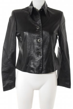 Ashley Brooke Lederjacke schwarz Casual-Look