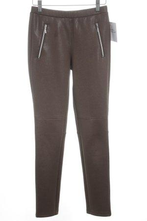 Ashley Brooke Leggings grey brown animal pattern extravagant style