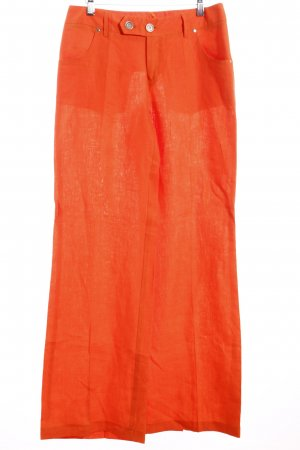 Ashley Brooke Leinenhose orange Casual-Look