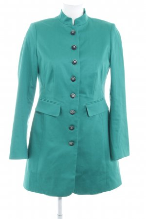 Ashley Brooke Blazer long vert style d'affaires