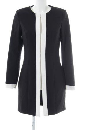 Ashley Brooke Blazer largo negro-blanco estilo «business»