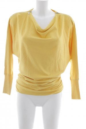 Ashley Brooke Long Sweater yellow-dark yellow casual look