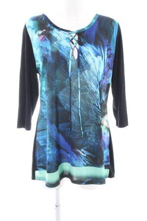 Ashley Brooke Longshirt abstraktes Muster Casual-Look