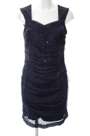 Ashley Brooke Pailettenkleid blau Elegant