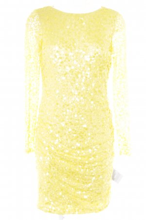 Ashley Brooke Sequin Dress yellow party style