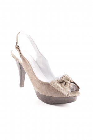 Ashley Brooke Peeptoe Pumps graubraun Leomuster Casual-Look