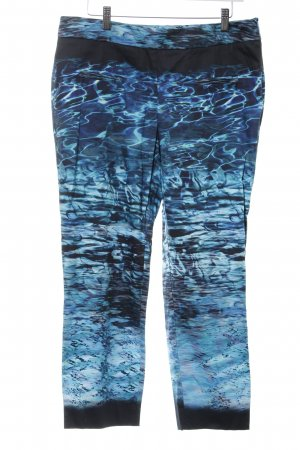 Ashley Brooke Drainpipe Trousers blue-black abstract pattern party style