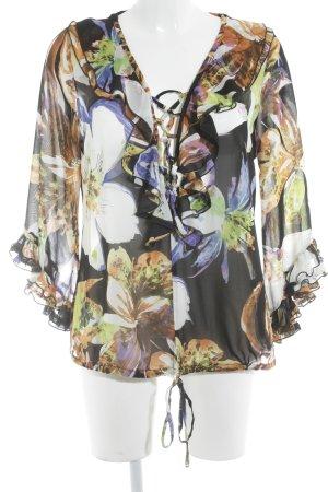 Ashley Brooke Ruffled Blouse flower pattern casual look