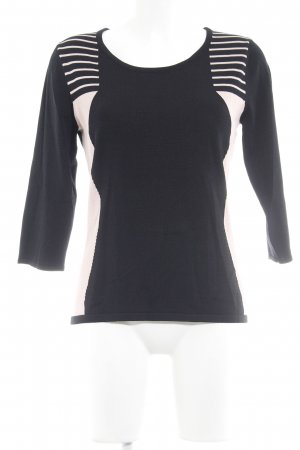 Ashley Brooke Crewneck Sweater black-pink striped pattern casual look
