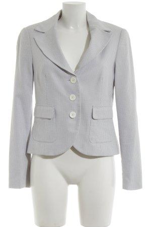 Ashley Brooke Tuxedo Blazer light grey-white check pattern business style