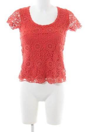 Ashley Brooke Lace Blouse red casual look
