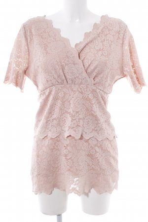 Ashley Brooke Lace Top pink casual look