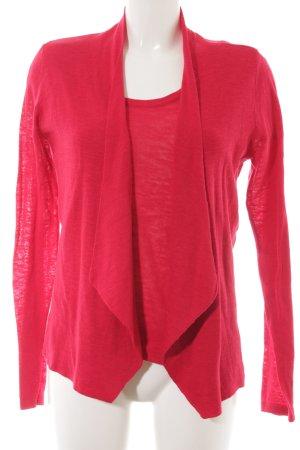 Ashley Brooke Twin set in maglia rosso mattone stile casual