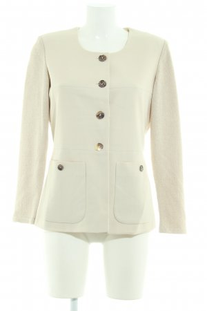 Ashley Brooke Knitted Blazer oatmeal-cream flecked business style