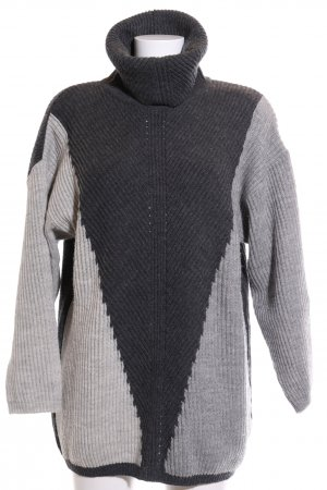 Ashley Brooke Knitted Sweater light grey-black color gradient casual look