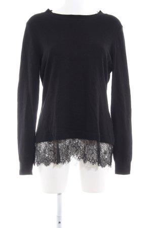 Ashley Brooke Maglione lavorato a maglia nero stile casual