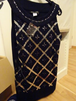 Ashley Brooke Top donkerblauw-zilver