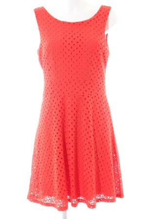 Ashley Brooke Trägerkleid rot Punktemuster Casual-Look