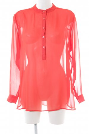 Ashley Brooke Transparante blouse rood elegant