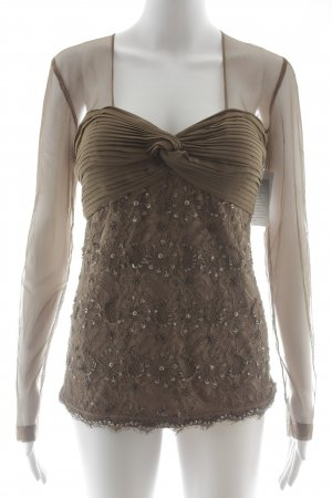 Ashley Brooke Transparent Blouse light brown elegant
