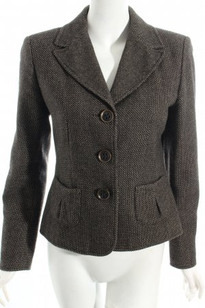 Ashley Brooke Woll-Blazer schwarz-grau Webmuster Business-Look