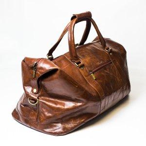 Ashwood Sac de voyage brun cuir