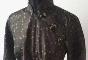 Colletto camicia verde oliva-sabbia