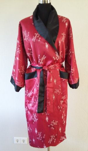 no name Kimono dark red-black copper rayon