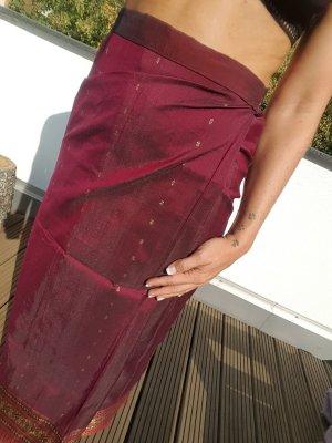 Falda cruzada violeta amarronado