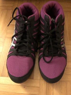 Asics Zapatillas negro-rojo zarzamora