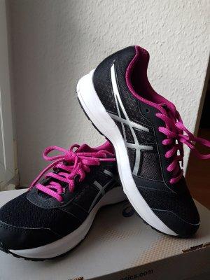 Asics Chaussures à lacets noir-rose