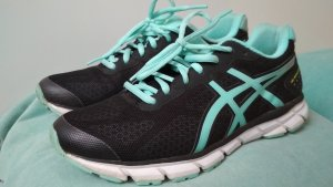 Asics Lace-Up Sneaker black-baby blue