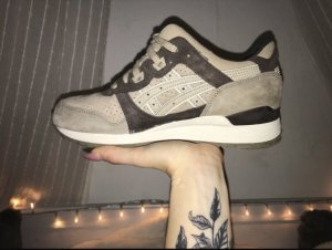 Asics Lace Shoes beige-dark brown