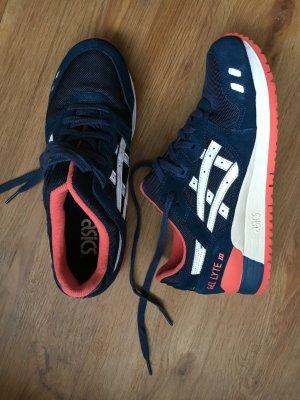 Asics gel lyte iii 3 Poseidon white 40,5 us8 blau rot beige weiß sneaker