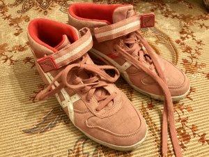Asics Hi Top Sneakers Koralle und rosa 40