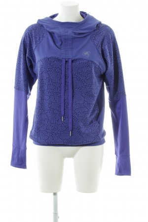 Asics Hooded Sweater blue spot pattern athletic style