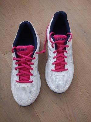 Asics Basket à lacet blanc-rose